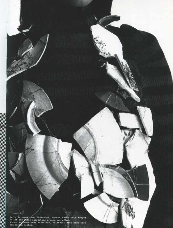 wearable object in fashion one more good one maison martin margiela mmm waistcoat made from broken dishes 1990