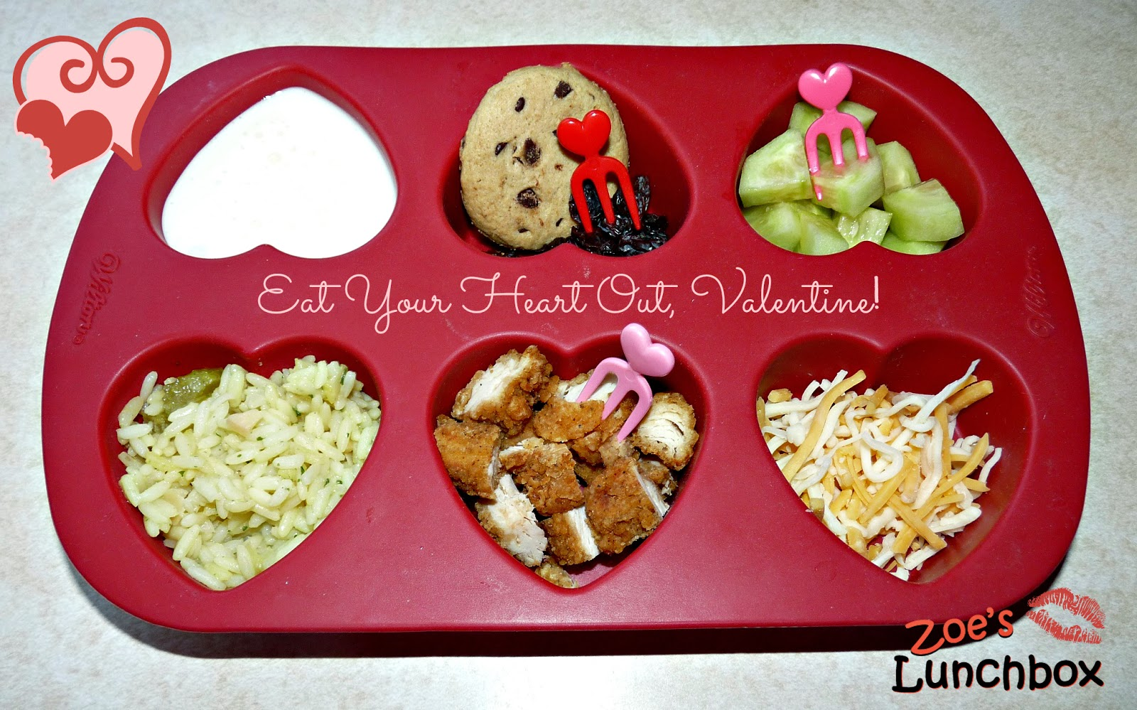 Valentine muffin tin meal