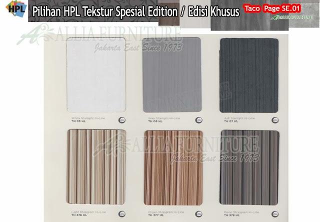 SE.01 HPL Taco motif tekstur edisi khusus