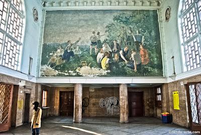 Mural de la estación de tren de Hunedoara