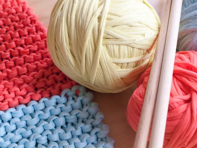 Puntobobo agujas de madera artesanales para tejer patr n de alfombra de trapillo a punto xl - Alfombra de trapillo cuadrada ...