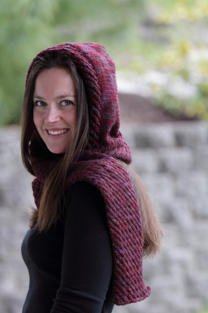Hooded Scarf - Christmas Crafts, Free Knitting Patterns, Free