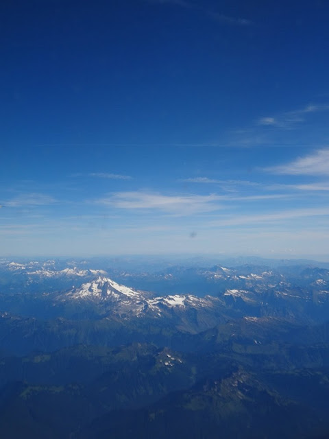 Flying over the North Cascades, view from the plane