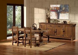 Decoracion comedores rusticos modernos for Muebles rusticos murcia