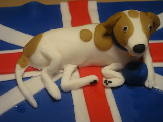 Finished Fondant Dog sculpture