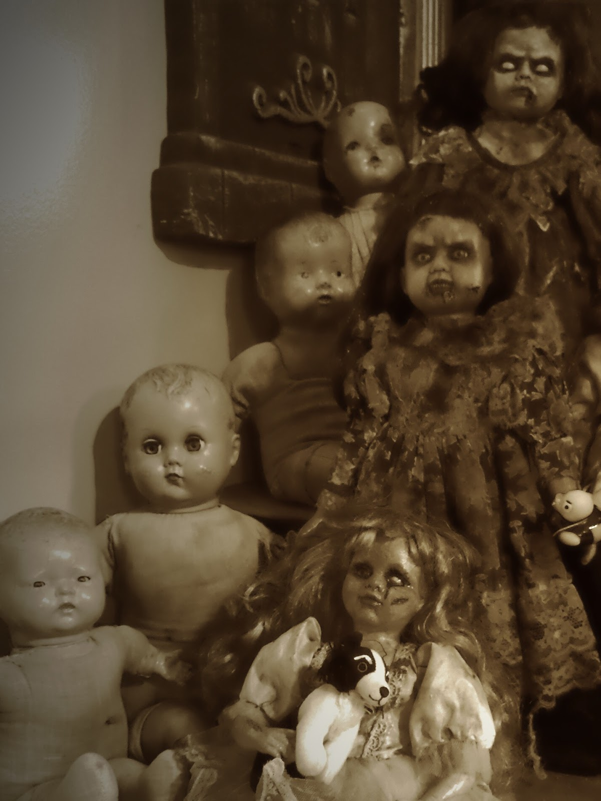 Just your average, run of the mill, typical old dolls