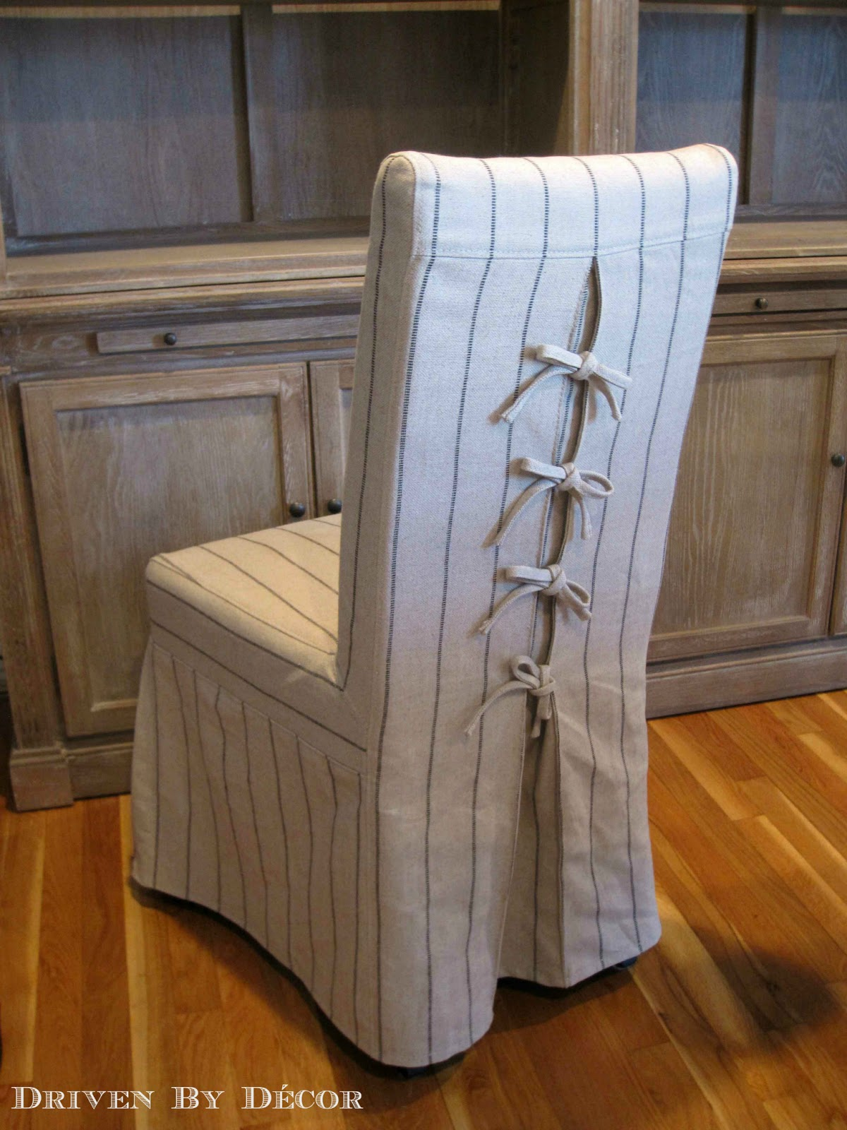 Driven By Décor: Dress Up Your Dining Chairs: Corseted Slipcovers