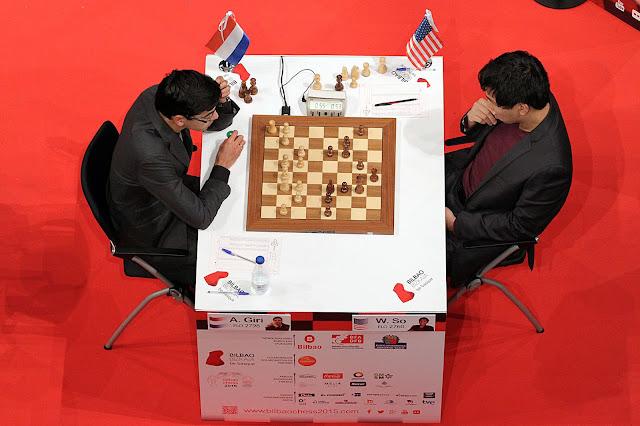 Anish Giri - Wesley So en el Bilbao Chess Masters Final 2015