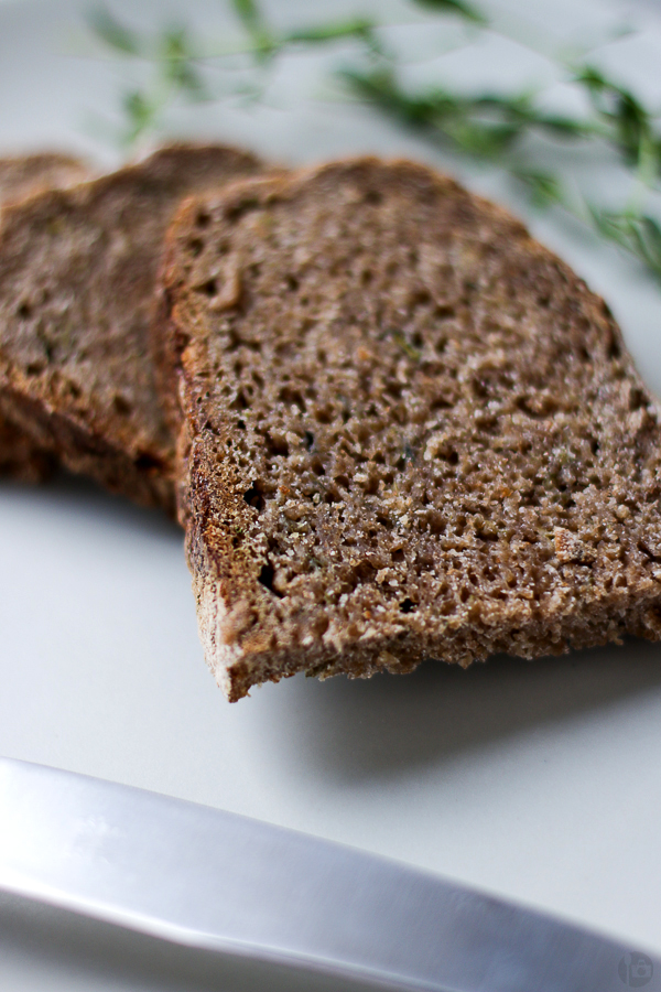 Whole Wheat Zucchini and Thyme Sourdough Bread