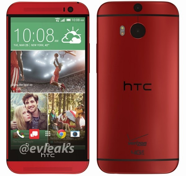 Verizon branded Red HTC One M8 leaks online