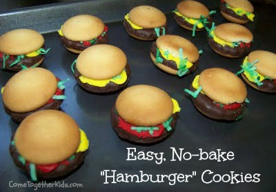 Easy, No-bake Hamburger Cookies