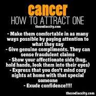 How to attract a cancer male