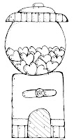 Bubble Gum Machine Coloring Page