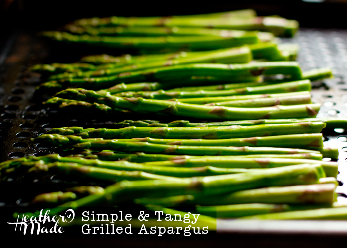 Simple & Tangy Grilled Aspargus | Heather O Made | simple recipe | summer| vegatarian | easy