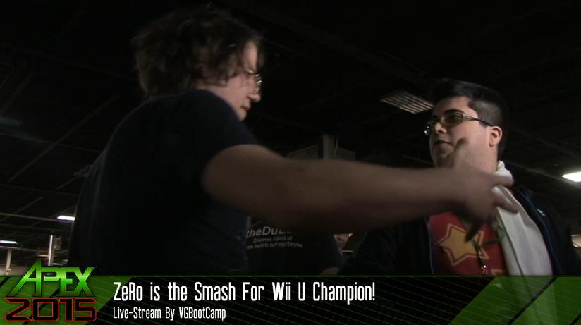 ZeRo is the Smash For Wii U Champion! Apex 2015