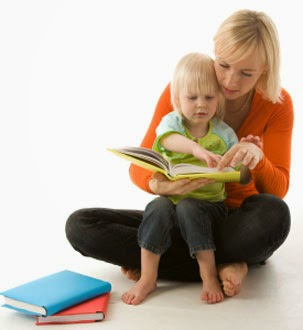 Mom Reading Aloud to Child