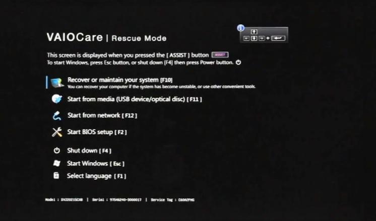 Hướng dẫn Recovery Windows 8 Sony Vaio không mất dữ liệu, bản quyền