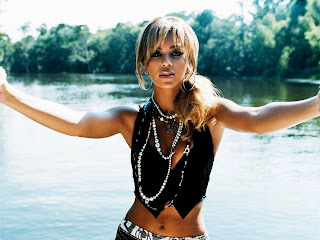 Beyonce River Landscape Behind HD Wallpaper