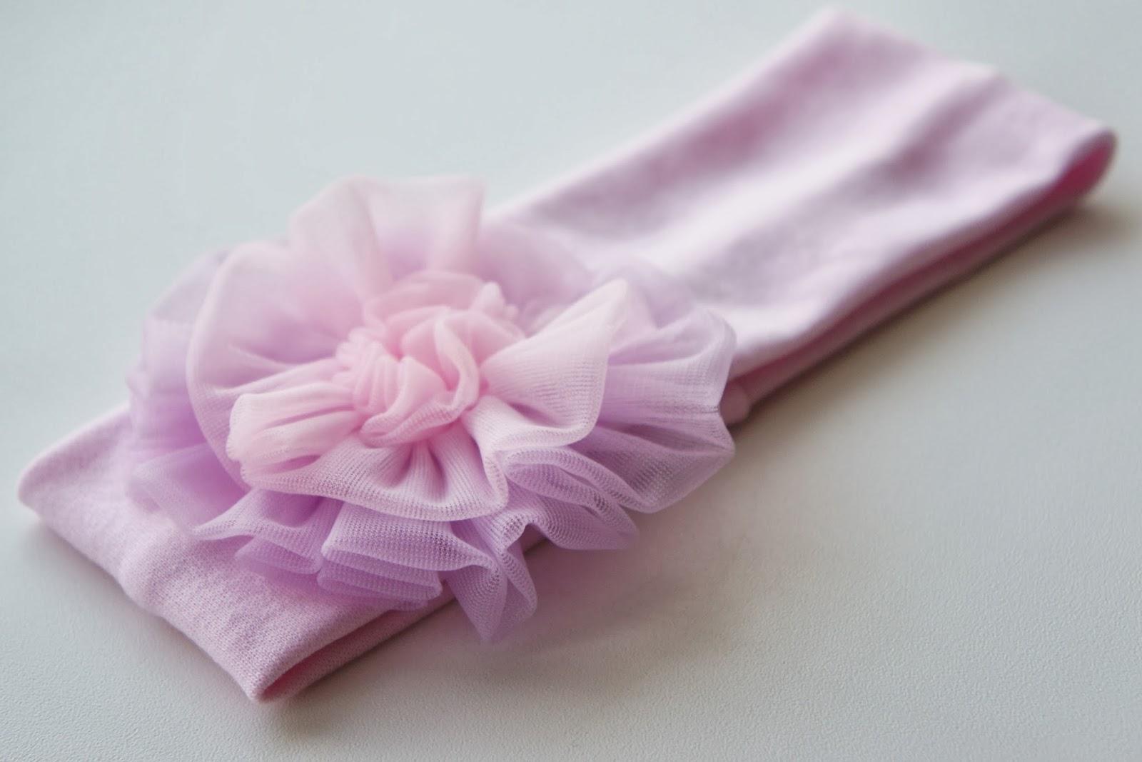 Повязка с цветочком из нейлон-шифона