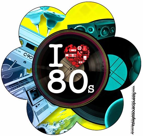 Años 80: Invitaciones para Imprimir Gratis. | Ideas y material ...