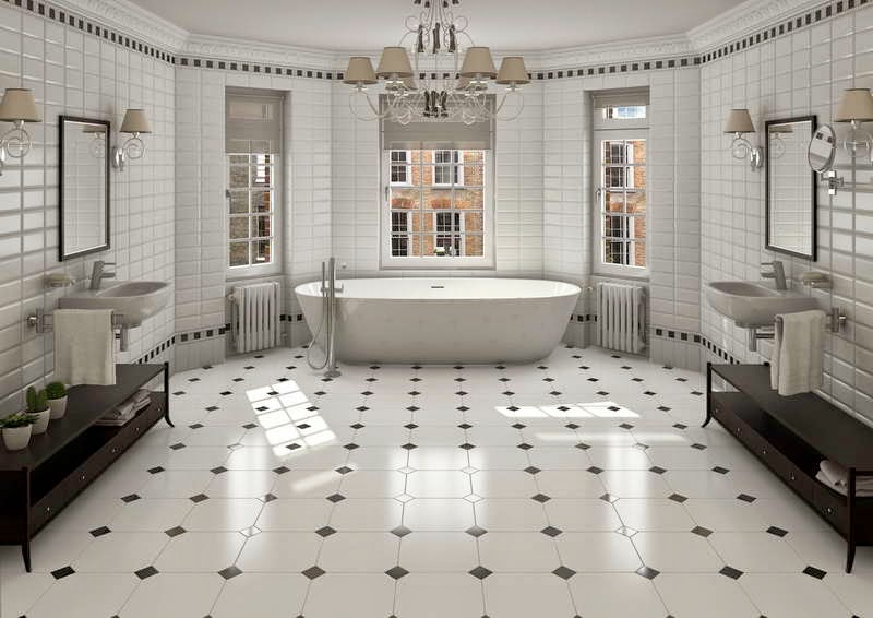 Merveilleux Washroom Floor Tiles; The Type Of Material For Design Ideas