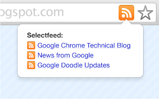 Google  RSS extension for Chrome browser