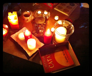 Earth Hour, Gabriola, Candles, Board Games, Settlers of Catan
