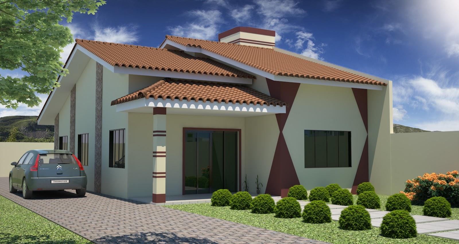 3d sonic maquetes casa projeto e 3d feito por mim for Casas 3d