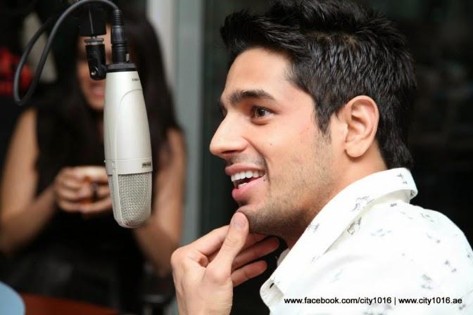 Shraddha and Siddarth at City1016, UAE's No.1 Bollywood Radio Station
