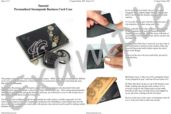 Polymer Tutorials Tutorial Steampunk Business Card Case