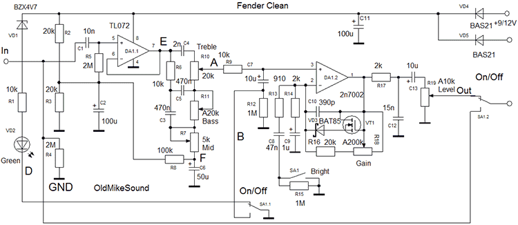 Guitar Amplifier circuit