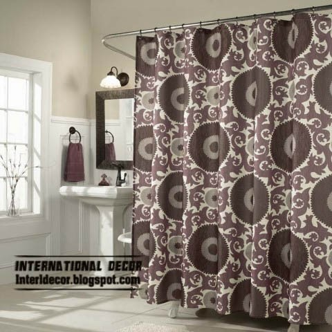 latest designs of shower curtains for retro bathroom