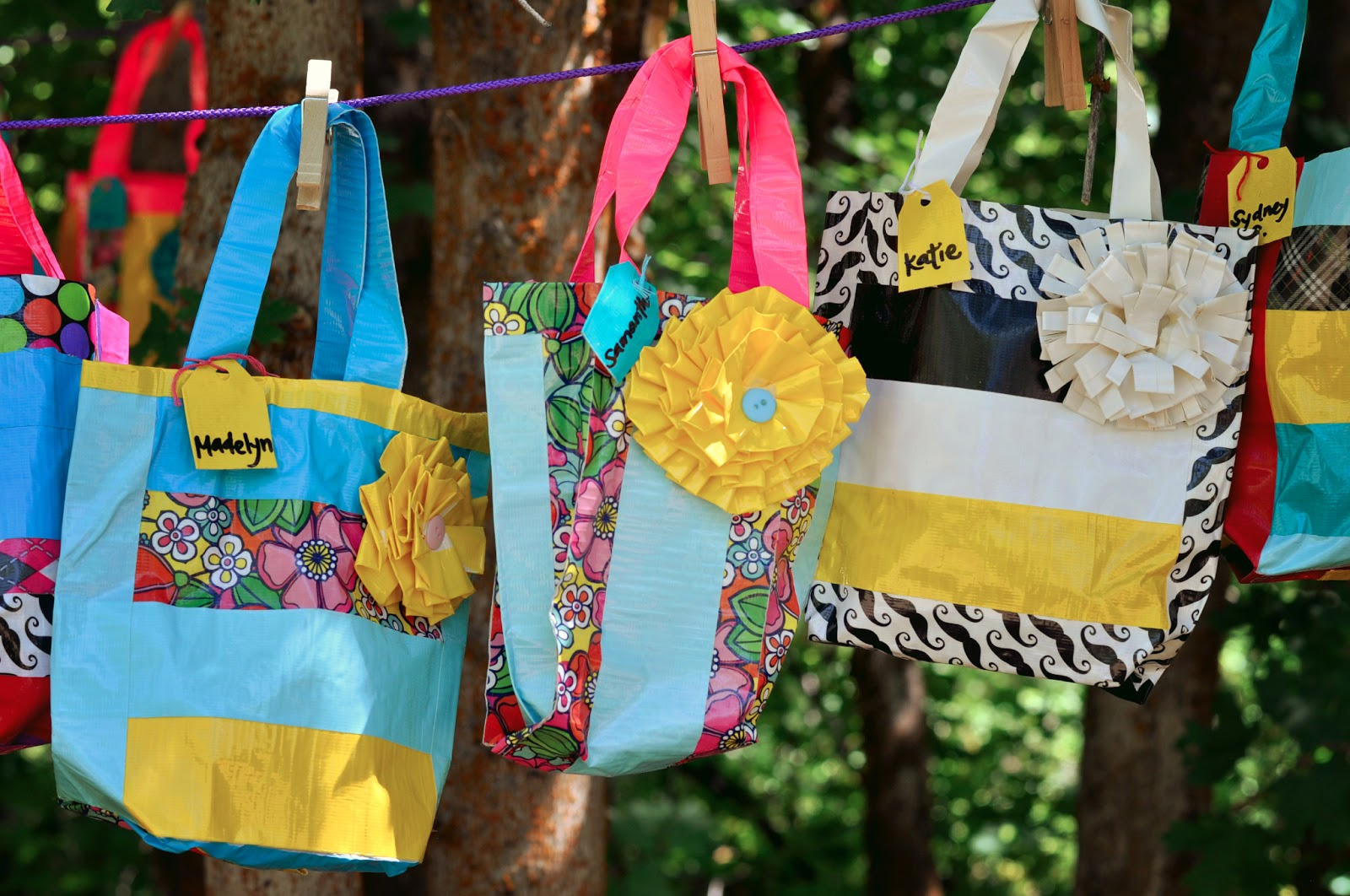 Duct tape girls camp crafts ideas little birdie secrets for Duck tape craft ideas