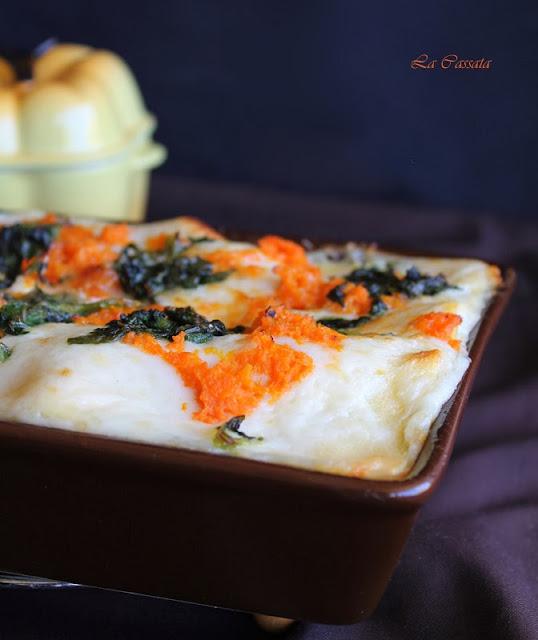 lasagne con zucca e spinaci e 100 % gluten free (fri)day