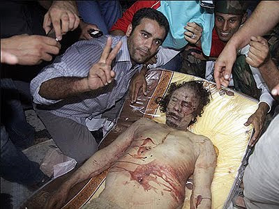 body of Gaddafi