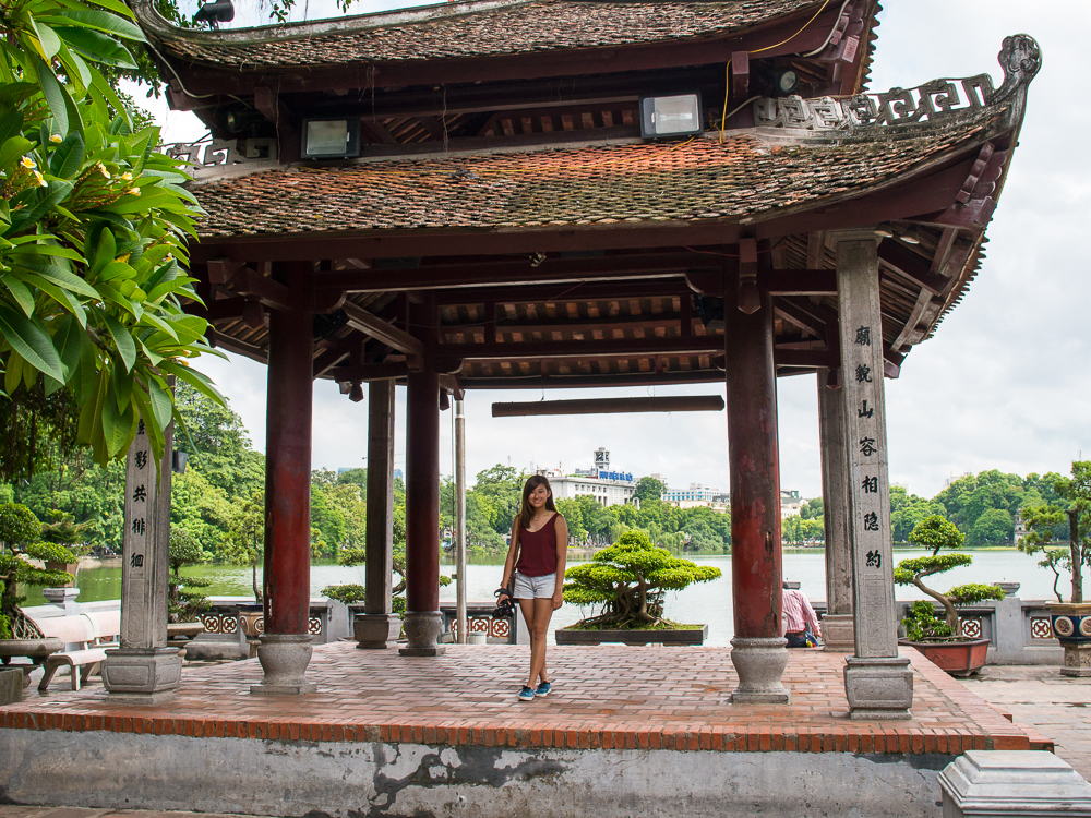 temple of the hanoi lake ootd