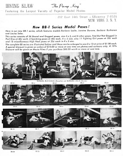 Page of catalog showing pictures of women in bondage and lingerie