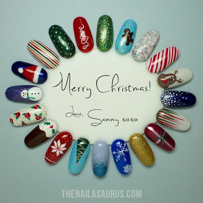 Christmas Nail Art: 20 Christmas Nail Art Ideas - The Nailasaurus