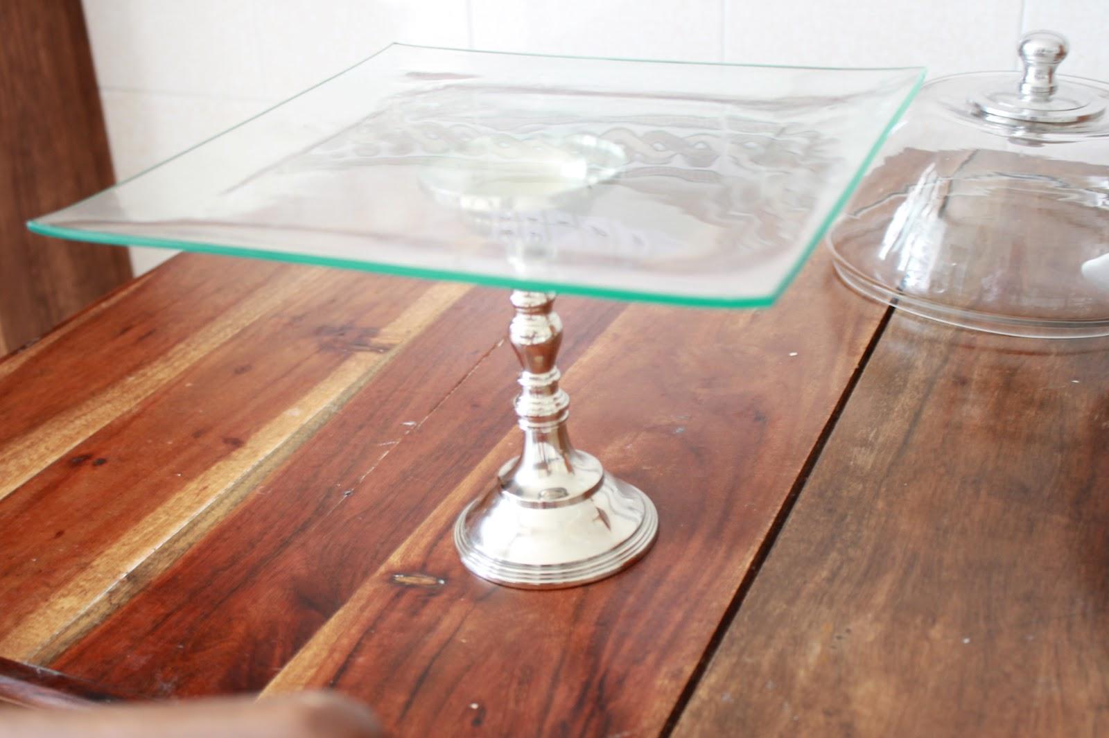 Make my cake el laboratorio diy cake stand 1 - Campana cristal ikea ...