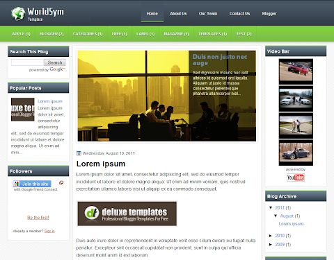 WorldSym Blogger Theme