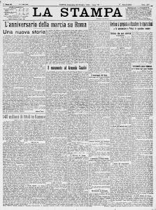 LA STAMPA 28 OTTOBRE 1928