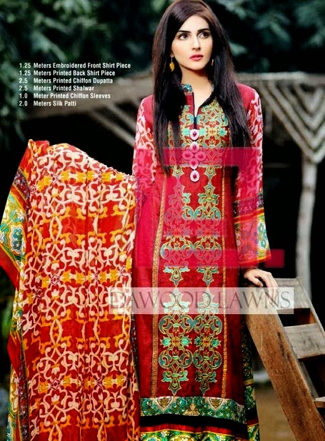 Chiffon Three Piece Lawn Suit