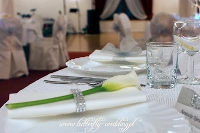 dekoracja serwetki na ślub calla