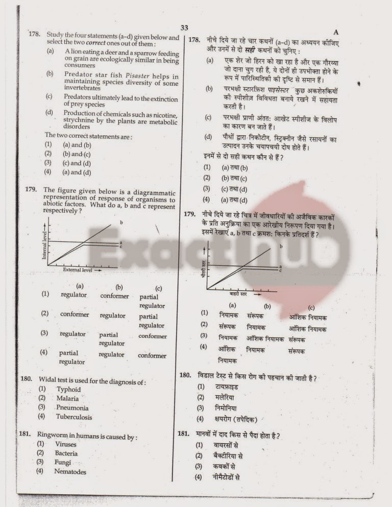 AIPMT 2010 Exam Question Paper Page 33
