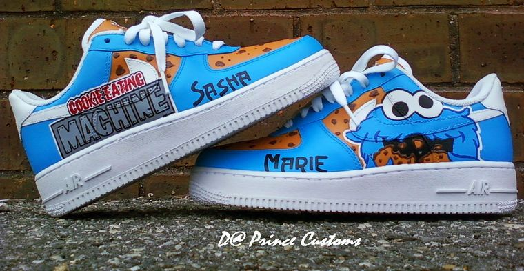 Cookie Monster Nike Air Force Ones Shoes Cool Buy
