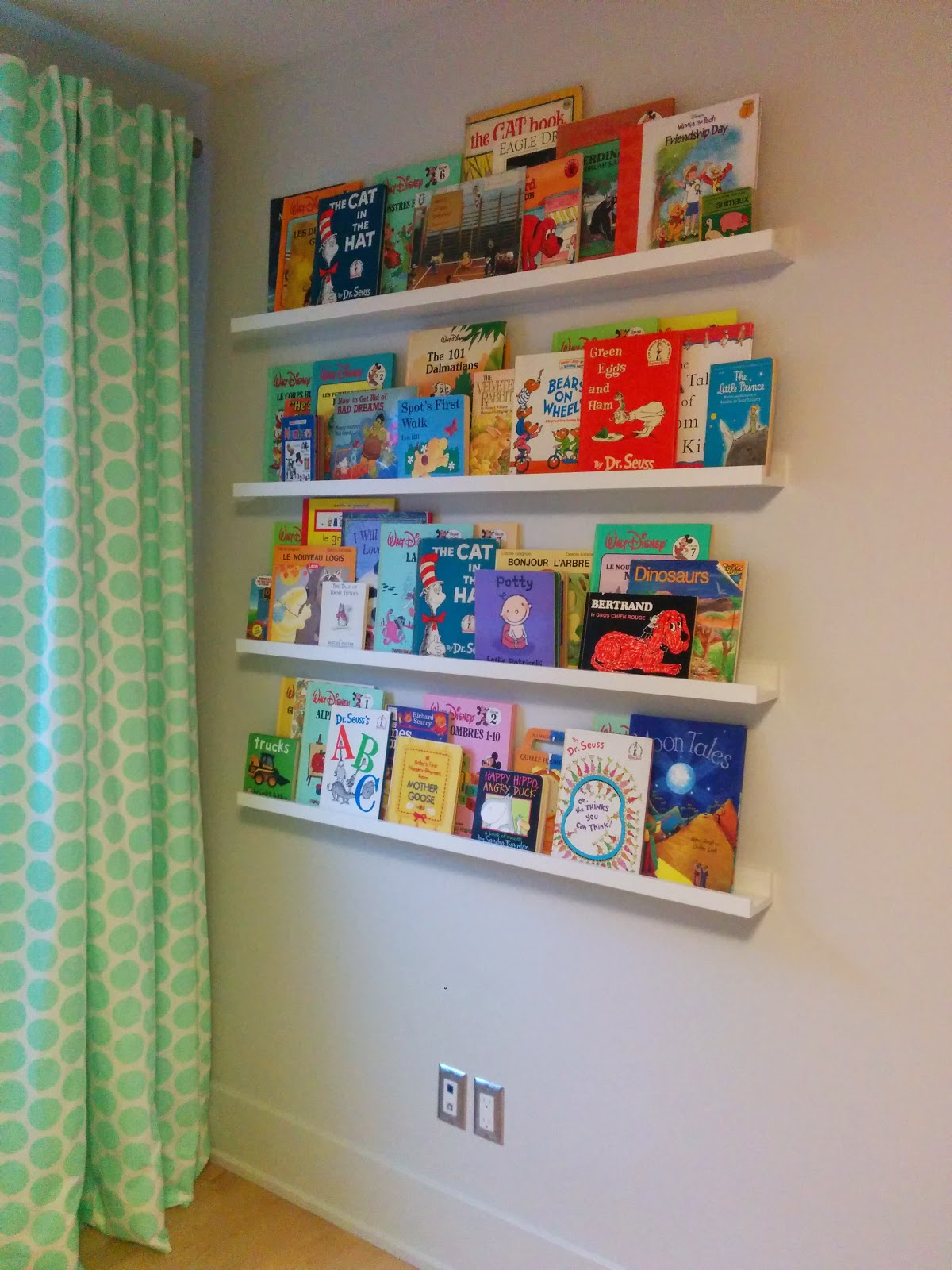 Ikea Ribba picture rails with children's books