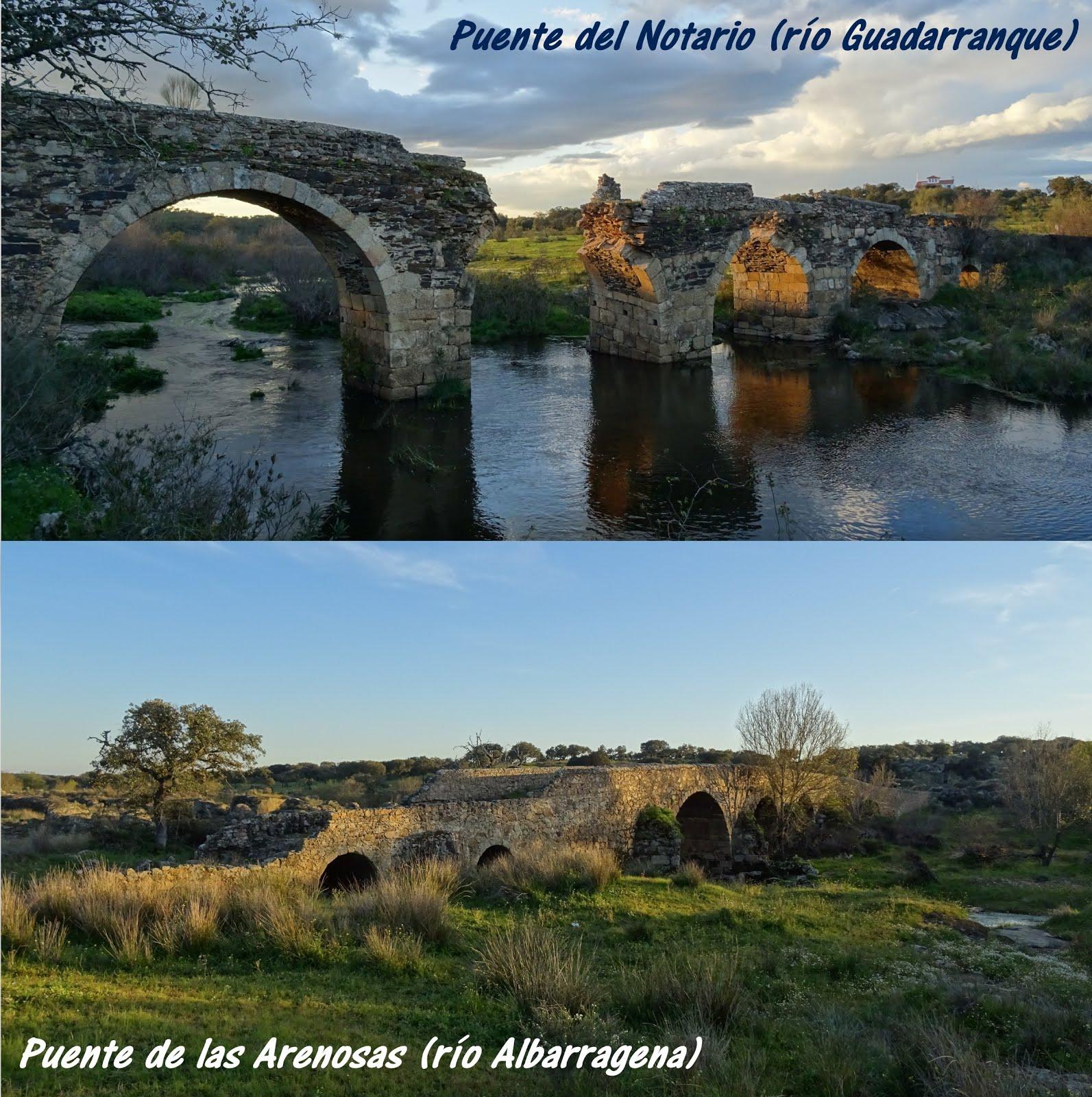 Puentes medievales del Notario y Arenosas, en las cercanías de Alburquerque