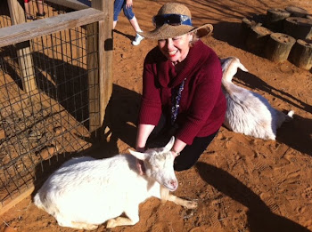 Bonnie pets the Billy Goat