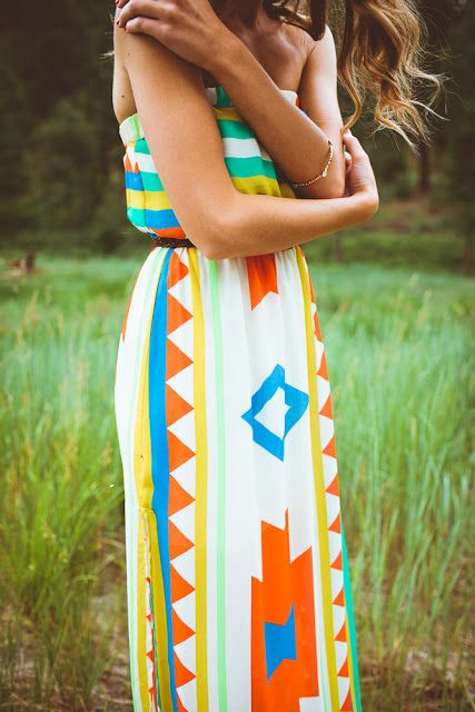 Colorful ladies maxi dress for summers