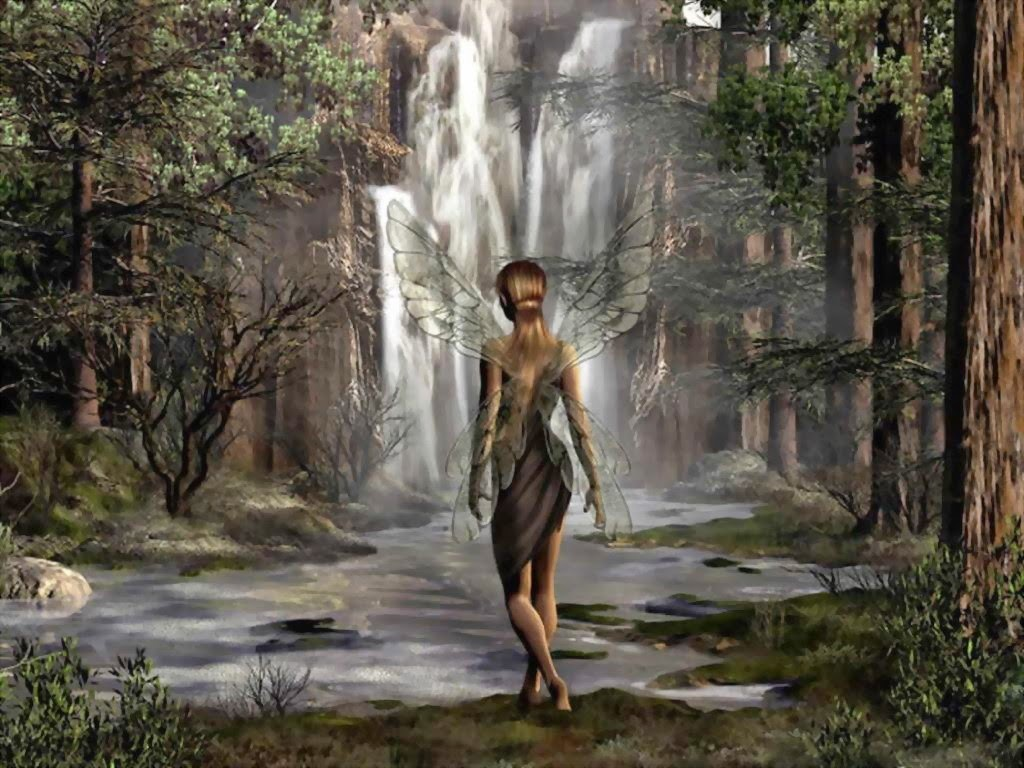 Imagen de hada en el bosque para fondos de pantalla en HD cambia lo